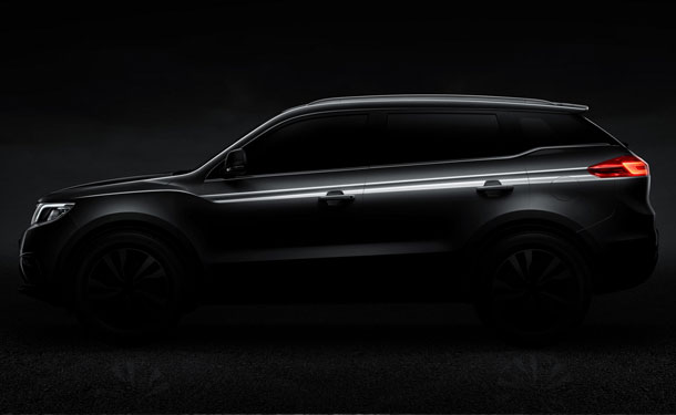 جيلي الصينية تطلق صور تشويقية لسيارة SUV جديدة