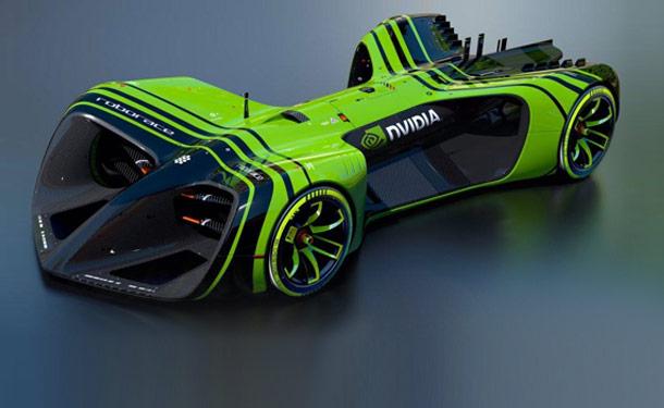 انفيديا تصمم العقل الالكتروني لسيارة سباقات Roborace